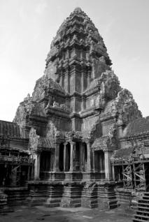 Torreón central de Angkor Wat. Bakan. Representa uno de los picos del Monte Meru.