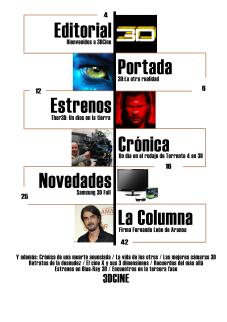 Sumario Revista 3D Cine